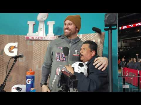 Chris Long gets interviewed by Guillermo Rodriguez (2017)