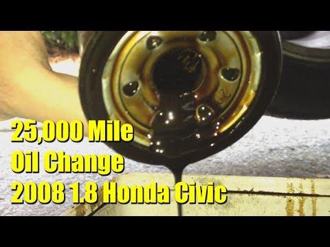 25,000 Mile Oil Change - 2008 Honda Civic 1.8 iShift