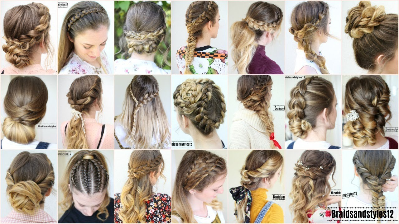 4 Hairstyle Ideas in 4 Minutes  Hairstyles from 4018  Braidsandstyles14