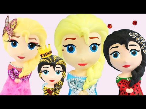 4 FROZEN ELSA CHARACTER DOLLS PRESENT DRESS COSTUME PAINTING + Honey Bee Pearl LadyBug Butterfly