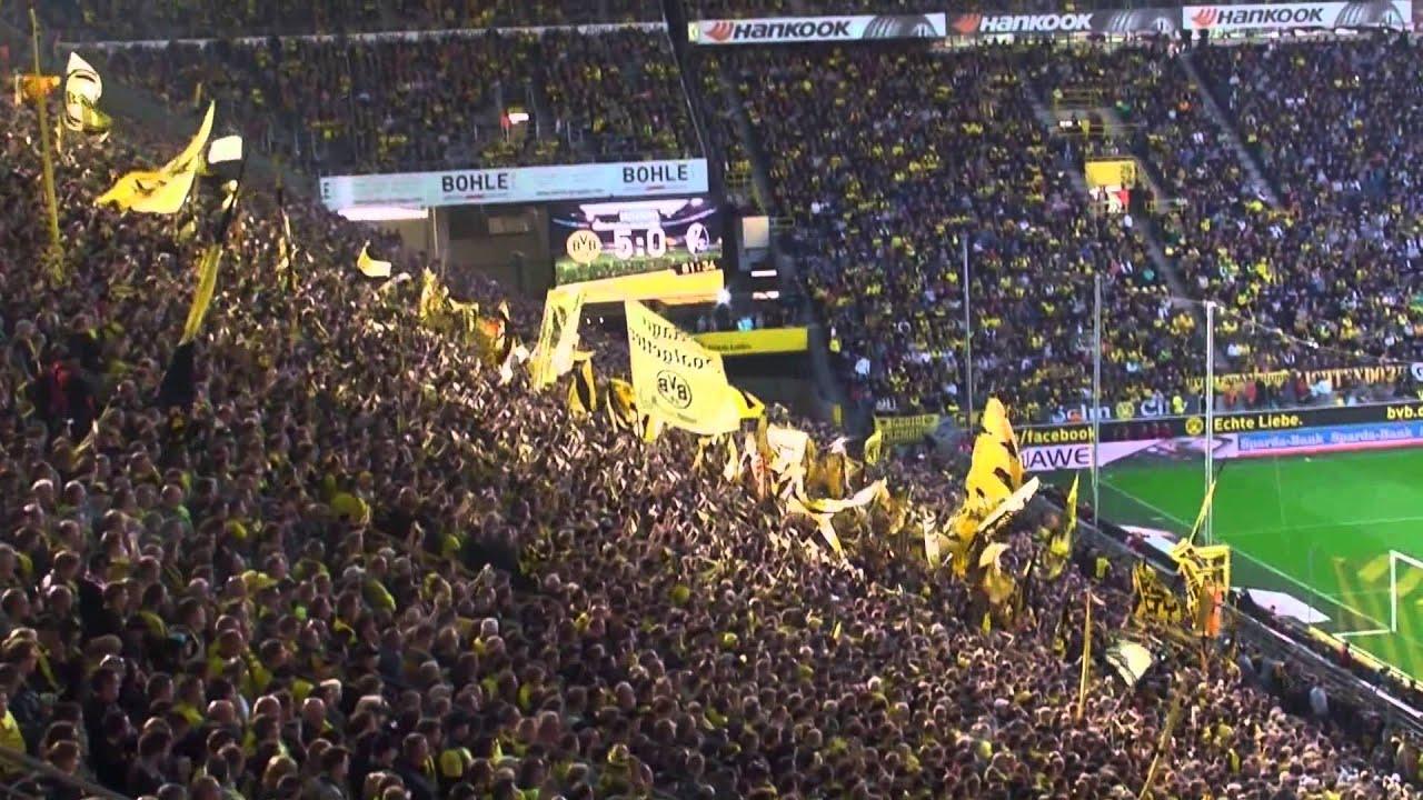 Stimmung Südtribüne: Borussia Dortmund - SC Freiburg 5:0 BVB Atmosphere