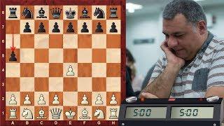 LIVE Blitz (Speed) Chess Game #749 vs El-Marmalade (GM) - GM Scalp Alert! (Corn stalk defense!)