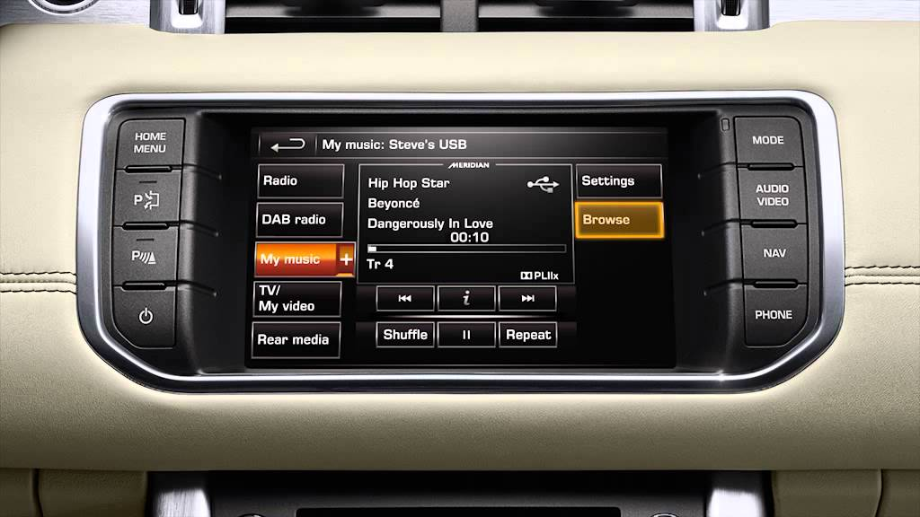 How to - Evoque/Evoque Convertible (2014) - Vehicle feature: Audio  connectivity system (USB)