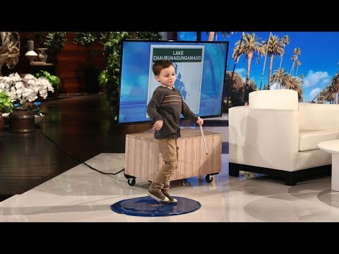 Kid Stratford Genius Has Ellen Cracking Up: River Looks Like Trump's Hair