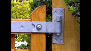 A tip to make sure you wooden gates cannot be lifted off their hinges