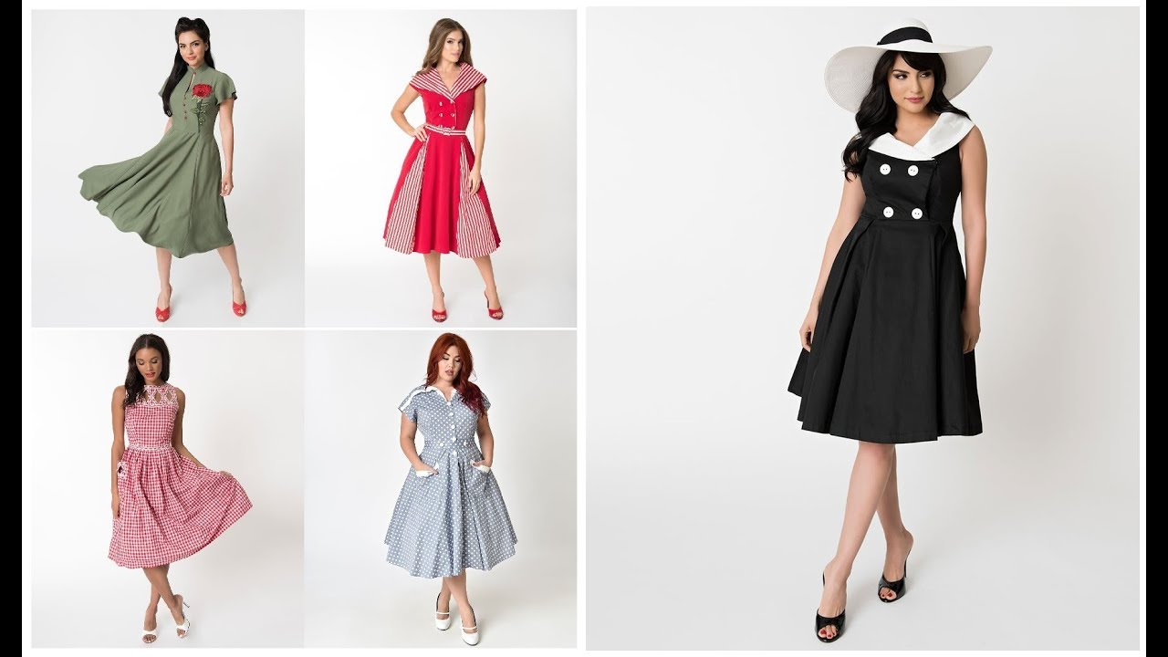 6785c605606 Vintage Outfits Ideas 2018-19 50 s Style Fashion Trend Dresses For Girls