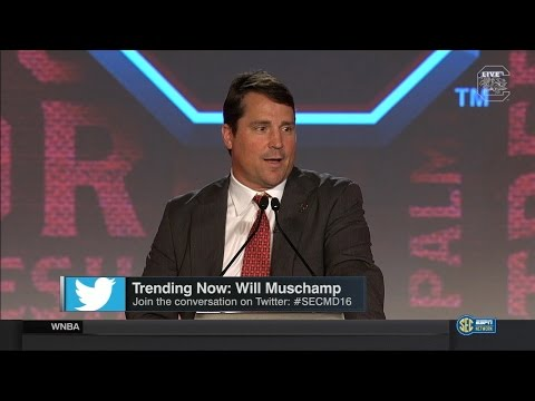 Willl Muschamp SEC Media Day Press Conference — 7/14/16