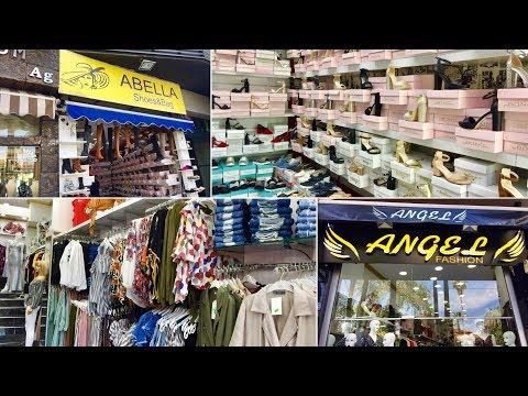 """Магазин обуви """"Abella"""" и повседневной одежды и на вечер """"Angel Fashion"""" на улице Ишиклар в Анталии."""