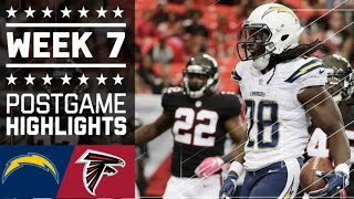 Chargers vs. Falcons | NFL Week 7 Game Highlights