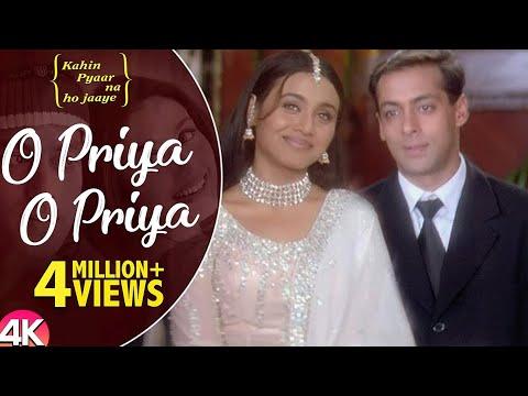 O Priya O Priya -4K Video | Salman Khan & Rani Mukherjee | Kahin Pyaar Na Ho Jaaye | Hindi Love Song