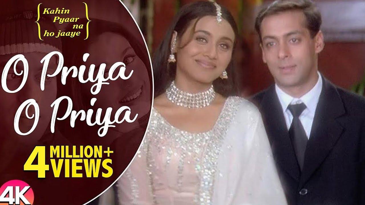 Download O Priya O Priya -4K Video | Salman Khan & Rani Mukherjee | Kahin Pyaar Na Ho Jaaye | Hindi Love Song