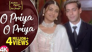 Download Lagu O Priya O Priya -4K Video | Salman Khan & Rani Mukherjee | Kahin Pyaar Na Ho Jaaye | Hindi Love Song mp3