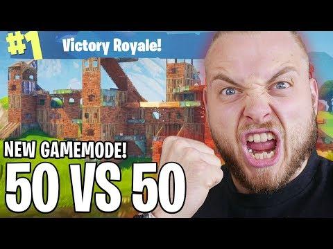 INSANE NEW 50 VS 50 GAMEMODE!! - FORTNITE BATTLE ROYALE!! #12