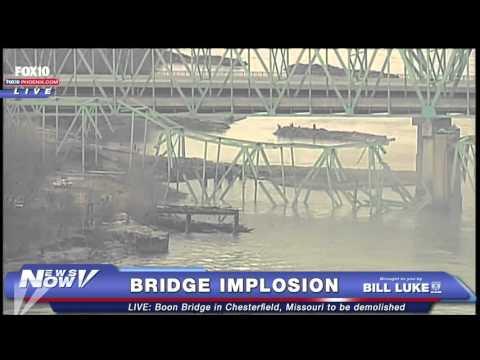 MUST SEE: Boon Bridge Implosion in Chesterfield, Missouri