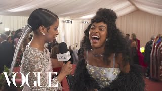 Yara Shahidi on Her Ever-Evolving Met Gala Look | Met Gala 2019 With Liza Koshy | Vogue
