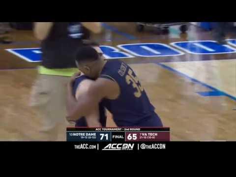 ACC MBB Tournament: Notre Dame vs Virginia Tech Condensed Game 2018