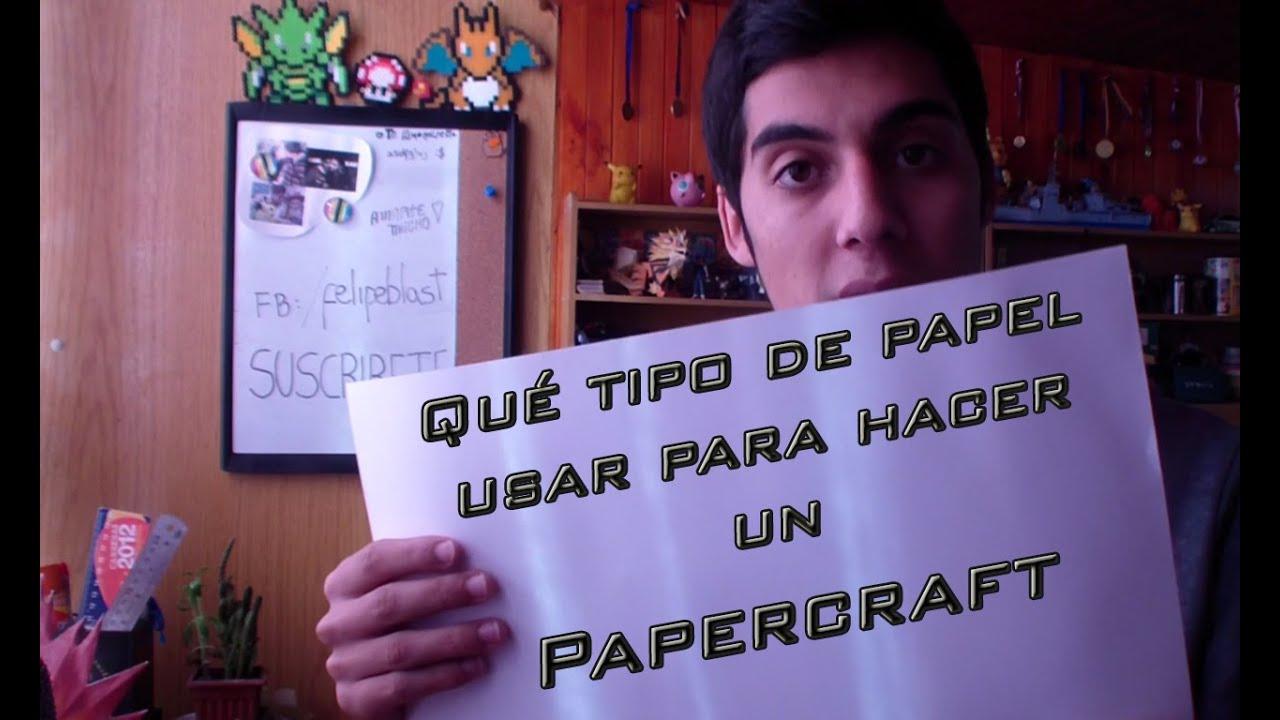 Papercraft Que tipo de papel usar para un Papercraft | Consejos y Tips para principiantes #5