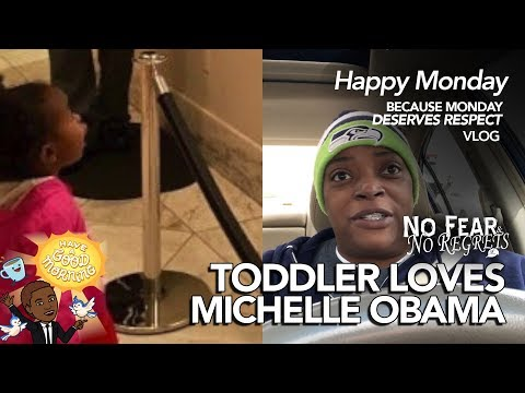 2 Year Old LOVES Michelle Obama Portrait 😍😍😍