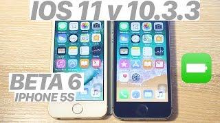 iOS 11 BETA 6 vs. iOS 10.3.3 - SPEED TEST + BATTERY + Benchmark! (iPHONE 5S) #iOS11 #IPHONE5S