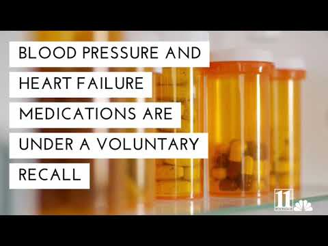 Prescriptions for heart failure, blood pressure recalled for cancer risk