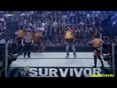 Team HBK Vs Team JBL Highlights HD Survivor Series 2008