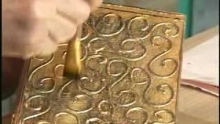 Livro antigo em MDF – Técnica de papel folha de ouro e betume