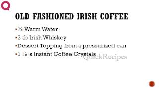 Old Fashioned Irish Coffee