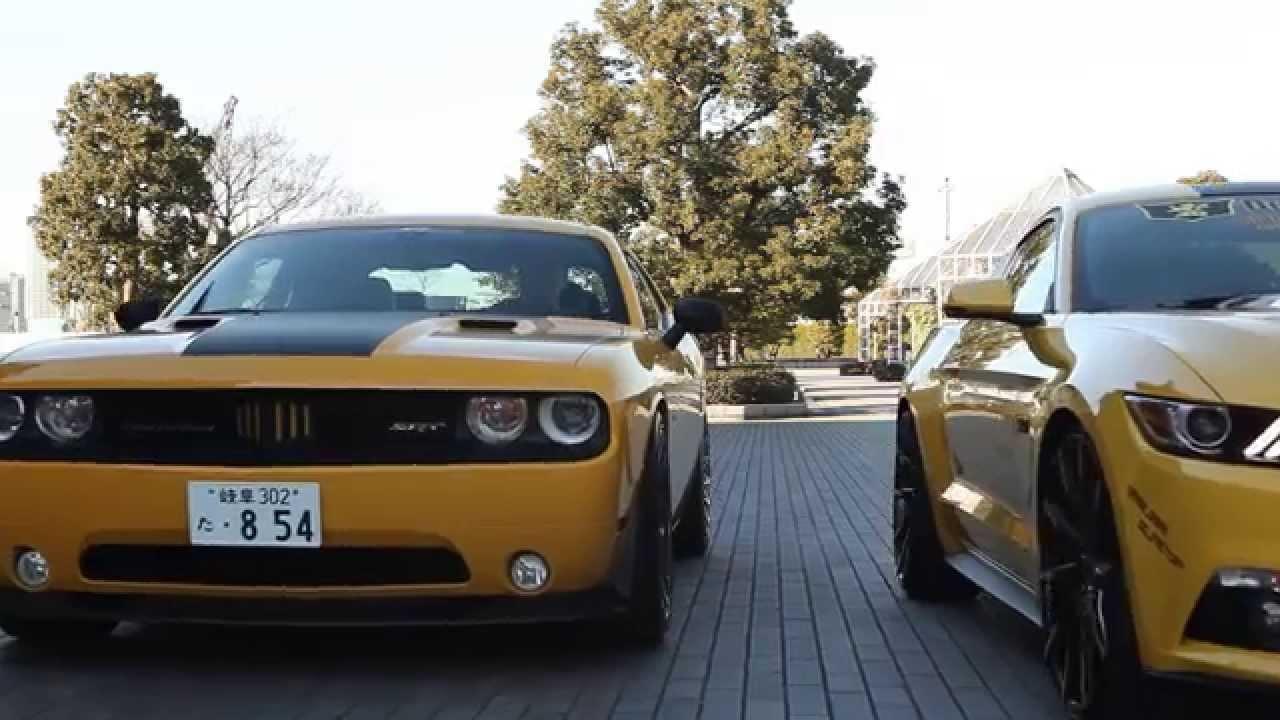Mustang GT vs. Dodge Challenger SRT 392 Hemi on Lexani Wheels - YouTube