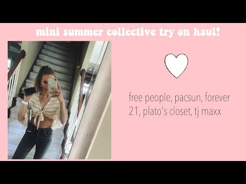 MINI SUMMER COLLECTIVE TRY ON HAUL | trendy & affordable
