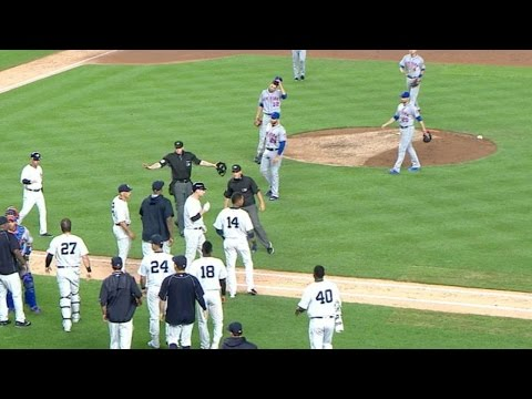 NYM@NYY: Benches clear after Matz hits Teixeira