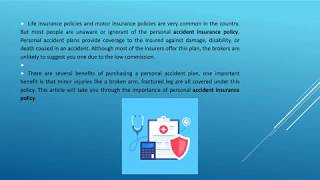 Why Personal Accident Insurance Is Important ?