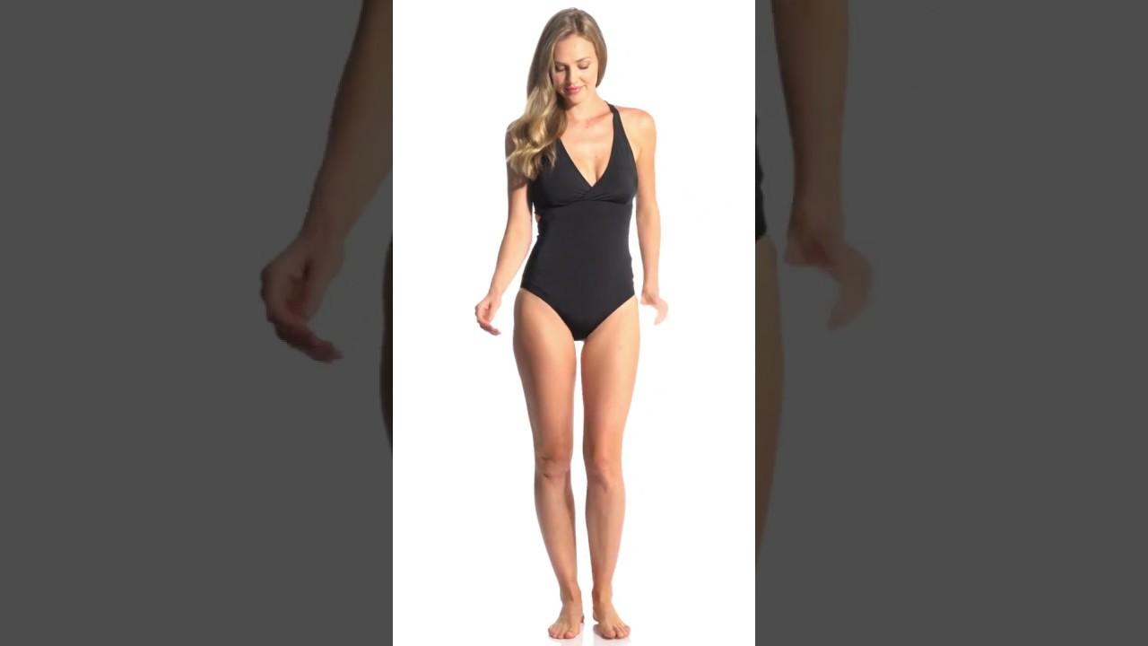 5a3f1e850dd Prana Solid Atalia One Piece Swimsuit | SwimOutlet.com - YouTube