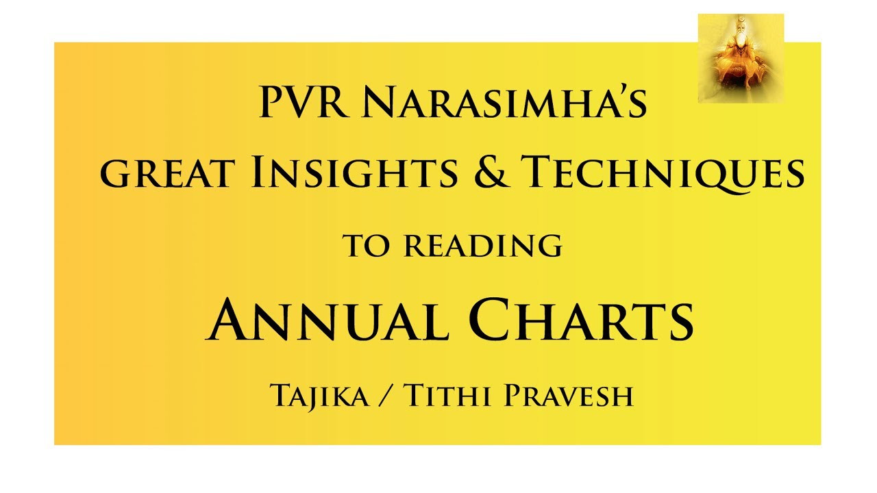 Rare Techniques to Predict Annual/Tithi Pravesh Charts - Varshphal | PVR  Narasimha Rao - Session 8
