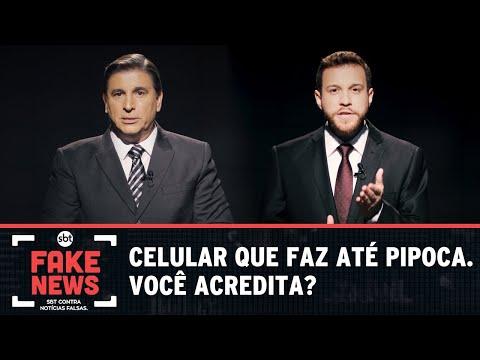 SBT Contra Notícias Falsas: Celular que faz até pipoca: você acredita?