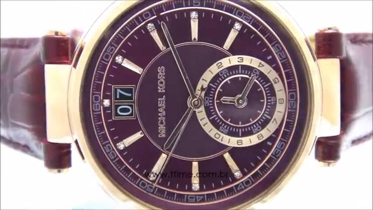 591f32ca36ac7 Relógio Michael Kors Sawyer MK2426 2RN - YouTube