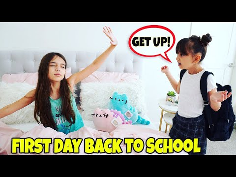 GRWM First Day of School 2019 Morning Routine - NEW SCHOOL! | Emily and Evelyn