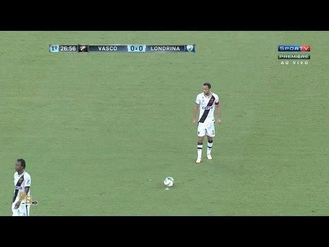 Gol - Vasco 1 x 0 Londrina - Brasileirão 2016 Série B