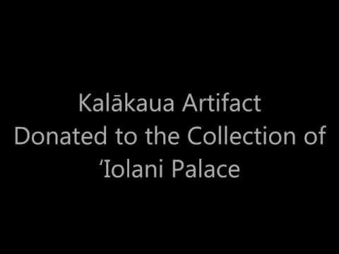 Calling Card of King Kalākaua