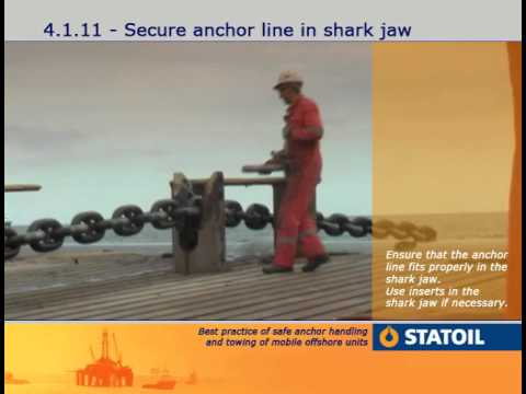 6. Anchor Handling - Anchor Line in Shark-Jaw.