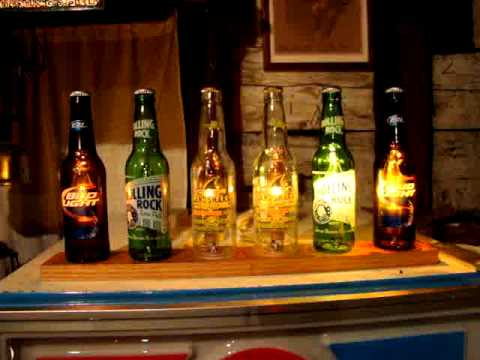 Beer Bottle color light Organ DUELING BANJOS music sync - YouTube