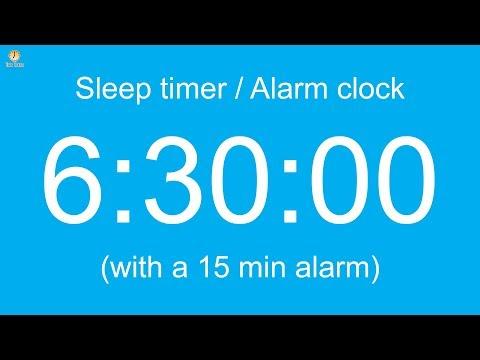 6 hour 30 minute Sleep timer / Alarm clock (Normal version)