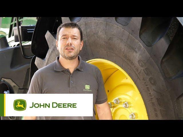 John Deere - Optimisation des tracteurs  - Pression de pneus et lestage