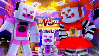 Funtime Freddy VS Helpy VS Circus Baby ?! | Minecraft FNAF Roleplay