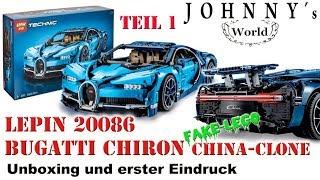 Lepin 20086 Bugatti Chiron - Clone vom Lego 42083 - Unboxing und erster Eindruck Review auf Deutsch