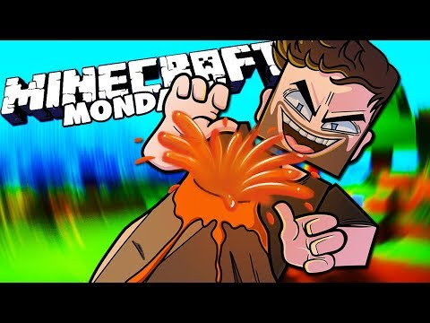 VOLCANO! - MINECRAFT MONDAYS with The Crew! (Episode 28)