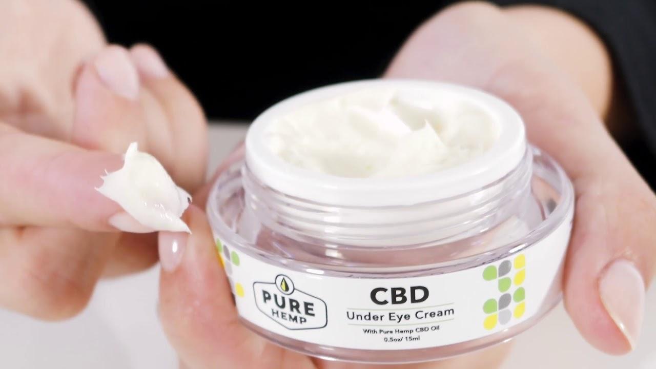 CBD Under Eye Cream - YouTube