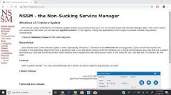 Create windows service using NSSM