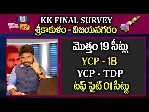 KK Final Survey Report On Srikakulam - Vizianagaram 19 Constituencies | YSRCP | JanaSena | TDP