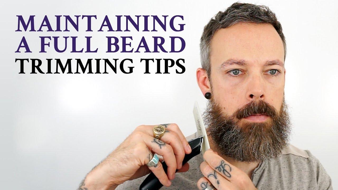 How To Trim A Beard Beard Trimming Maintenance Youtube