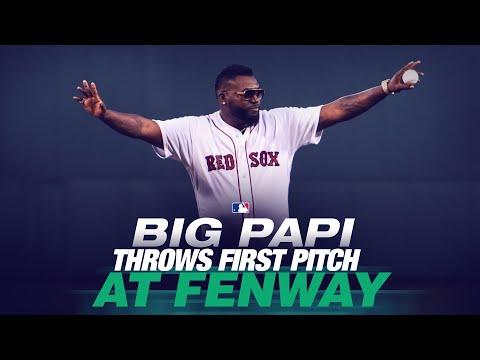 Big Papi David Ortiz Make First Pitch Appearance at Fenway Park